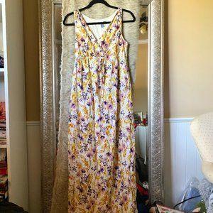 S floral maternity maxi dress